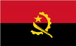 Angola Large Country Flag - 3' x 2'.